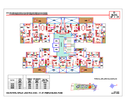 Typical 4th, 8th Floor Plan